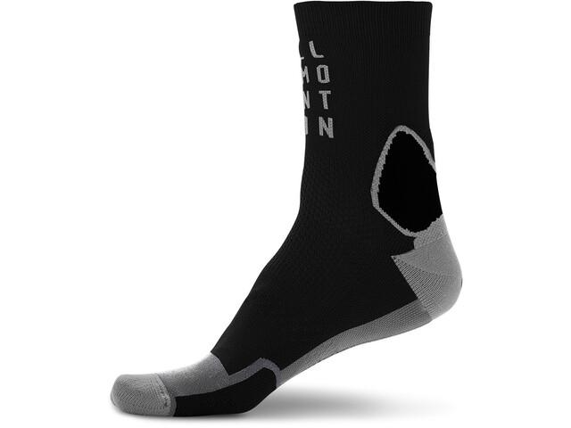Cube Mountain High Cut Socks blackline